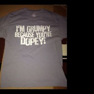 "Disney ""I'm Grumpy Because You're Dopry"" L Tee"